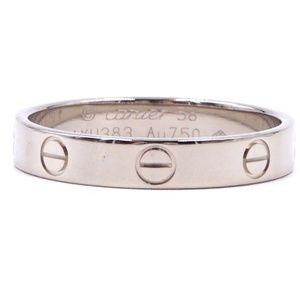 White Gold 18k 750  Size 58 3.5mm 8.75 Ring